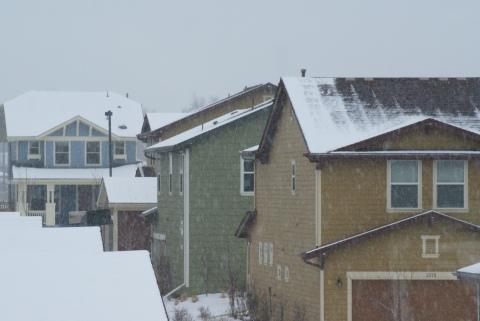 Poor attic insulation melts snow