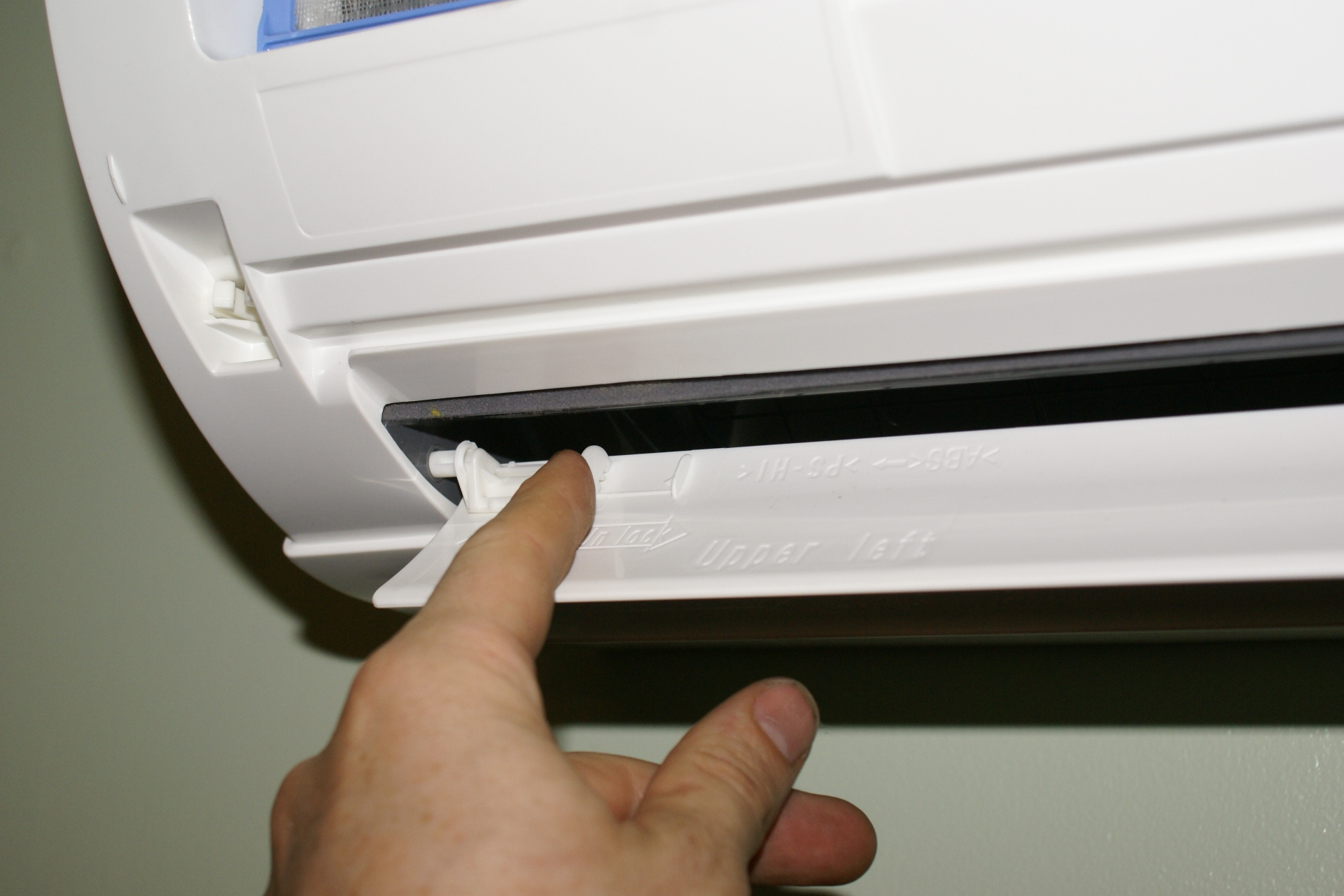 adding a programmable thermostat to mitsubishi mr slim heat pumps remove the horizontal vanes